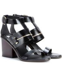 Balenciaga Black Leather Sandals - Lyst