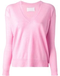 Zadig & Voltaire Happy V-Neck Sweater - Lyst