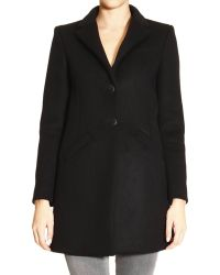 Balenciaga Coat Classic V-Neck 2 Buttons Front Pockets Wool - Lyst