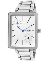 Nixon Womens Ivy Silver-tone Steel White Dial - Lyst
