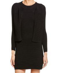 Donna Karan New York Three Quarter Sleeve Cardigan - Lyst