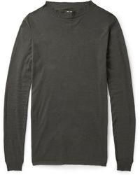 Rick Owens Crew Neck Cotton-Blend Sweater - Lyst