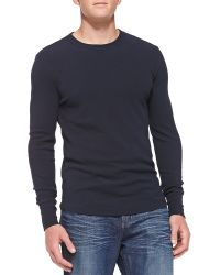 7 For All Mankind Long-Sleeve Mini Waffle Shirt - Lyst