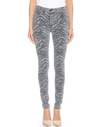 Hudson Barbara High Waisted Super Skinny Jeans - Stray - Lyst