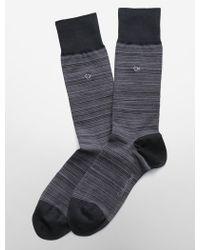 Calvin Klein Tonal Striped Socks - Lyst