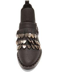 Frēda Salvador Fringe Embossed Leather Boots - Lyst