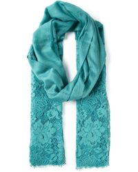 Valentino Green Lace Scarf - Lyst