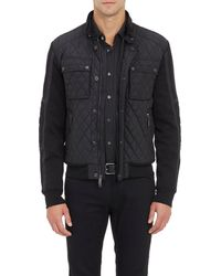 Ralph Lauren Black Label Jersey  Quilted Café Racer Jacket - Lyst