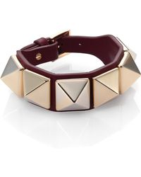 Valentino Rockstud Large Leather Bracelet - Lyst