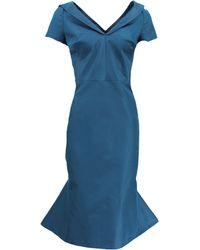 Zac Posen | Flounce Bottom Fitted Dress | Lyst