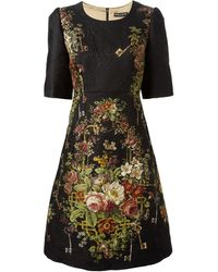 Dolce & Gabbana Floral Brocade Shift Dress - Lyst