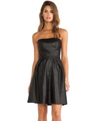 Thakoon Addition Strapless Leather Dress - Lyst