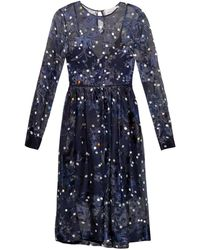 Preen Copley Floral-Devoré Silk Dress - Lyst