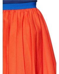 Anna K - Elastic Waist Pleat Cotton Skirt - Lyst