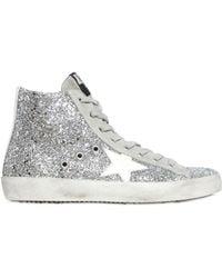 Golden Goose Deluxe Brand Glitter Hightop Sneakers - Lyst