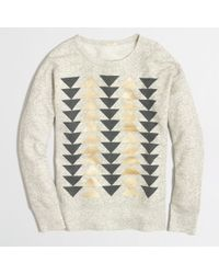 J.Crew Factory Metallic Arrows Sweatshirt - Lyst