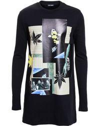 Raf Simons Long Logo-print Cotton Sweatshirt - Lyst