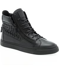 Giuseppe Zanotti Mono Stud High Top Sneaker - Lyst