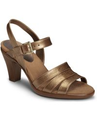 Aerosoles Magician Leather Heeled Sandals - Lyst