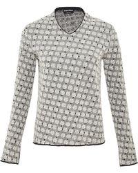 Sonia Rykiel  Small Roses Jacquard V-neck Sweater - Lyst