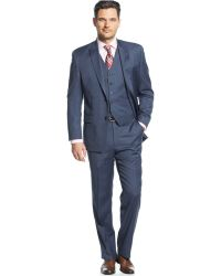 Michael Kors Michael Blue Tight Stripe Vested Suit blue - Lyst