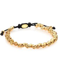 M. Cohen Stacked Skulls Bracelet/Goldtone - Lyst