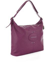 Longchamp Quadri Leather Hobo Bag - Lyst