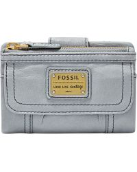 Fossil Emory Leather Multifunction Wallet - Lyst