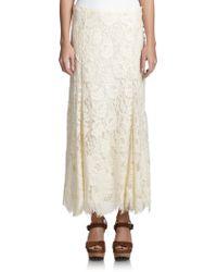 Polo Ralph Lauren Lace Maxi Skirt - Lyst