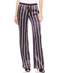 Joseph Satin Stripe Pajama Trousers Navy - Lyst