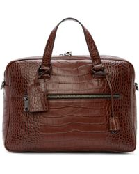 Marc By Marc Jacobs - Brown Croc-embossed Johnny Briefcase - Lyst