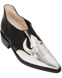 Paco Rabanne 30mm Leather Western Shoes - Lyst