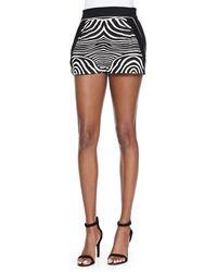 Ohne Titel - Zebra-Print/Solid Resort Shorts - Lyst