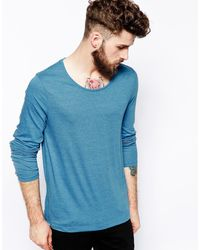 Asos Long Sleeve Tshirt with Scoop Neck - Lyst