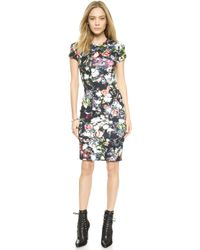 McQ by Alexander McQueen Long Body Con Floral Dress - Festival Floral - Lyst