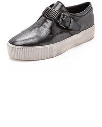 Ash Kiss Buckle Slip On Sneakers - Graphite - Lyst
