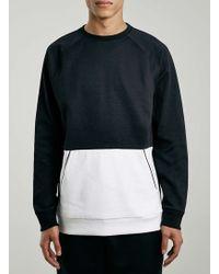 LAC - Cut And Sew Mesh Sweatshirt - Lyst
