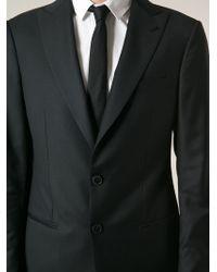 Giorgio Armani Black Classic Suit - Lyst