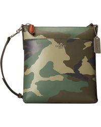 Coach Camo Leather Northsouth Swingpack - Lyst