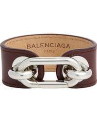 "Balenciaga ""Maillon Bangle"" Bracelet - Lyst"