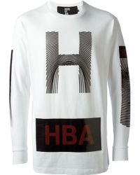 Hood By Air Logo Print Sweatshirt - Lyst
