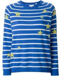 Chinti & Parker Star And Stripe Intarsia Sweater - Lyst