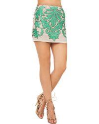 Akira Black Label Sequin Detail Mini Skirt in Mint - Lyst