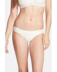 Pilyq Ruffled-Side Bikini Bottoms - Lyst