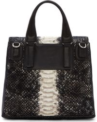 Givenchy Black Wool and Python Small Pandora Satchel Bag - Lyst