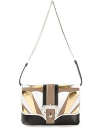 Paula Cademartori Panelled Flap Shoulder Bag - Lyst
