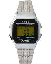 Timex® Classic Digital Silvertone Bracelet Watch - Lyst