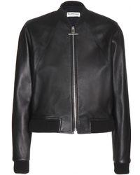 Balenciaga Leather Bomber Jacket - Lyst