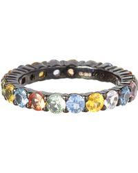 M.c.l - Large Multicolour Sapphire Ring - Lyst