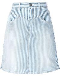 Koral Striped Denim Skirt in Blue | Lyst
